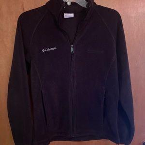 Columbia black fleece women's full zip size S